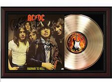 "ACDC Cherrywood Reproduction Signature Display. Axl Rose, Brian Johnson ""M4"""