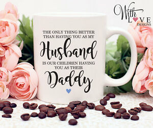 FATHERS DAY HUSBAND DADDY DAD COFFEE MUG TEA CUP PERSONALISED PRESENT GIFT