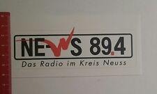 ADESIVI/Sticker: ne WS 89.4 la radio in cerchio Neuss (03111680)
