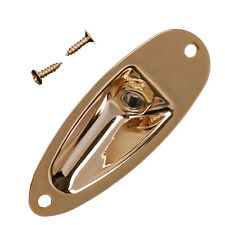 1 Pcs Gold Boat Output Jack Plate Socket for Strat Electric Guitar Replacement