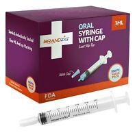 3ml Syringe with Cap (100 Pack)   Oral Dispenser Luer Slip tip