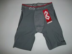 MCDAVID Padded SLIDING Baseball Compression SHORTS w/ Cup Pocket Mens LARGE  NEW