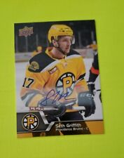 2014-15 Upper Deck AHL Autographs #2 Seth Griffith
