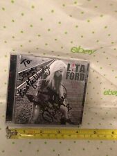 """LITA FORD Signed Autograph CD LIVING LIKE A RUNAWAY """"KISS ME DEADLY"""" RARE"""