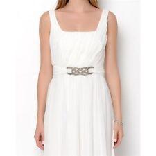 Jill Stuart Chiffon Embellished Pleated Gown, Size 2 NEW