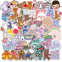 50pcs Korea Ins Bear Girls Stickers For Diy Skateboard Guitar Motorcycle Laptop