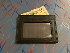 TUMI Black Slim Card Case - Textured Fabric Black Leather - USED