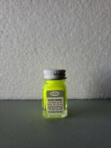 Testors Paint Neon Yellow Enamel 1/4oz Jar plastic model car 1177 NEW