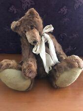 Fur Teddybear, Handmade Fully Jointed, 20 Inches.
