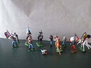 Vintage Job lot Britains ACW Swoppets union, confederate and Herald indians.