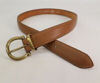 Dockers Leather Belt Large 32 Levis Brass Shackle Buckle Brown 1727 Made in USA