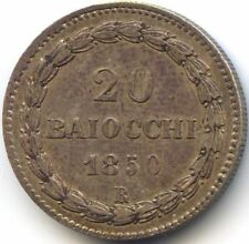 VATICAN PIE IX (1846-1870)20 BAIOCCHI 1850 ROME AN IV