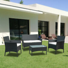 Gartenmöbel Ecke Garnitur Ecksofa Tisch Balkon Couch Sitzgruppe Schwarz