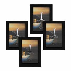 Widdop 4' x 6' - iFrame Set of 4 Photo Frames Black
