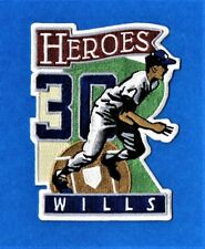 MAURY WILLS HEROES LA DODGERS AUTHENTIC MLB PATCH