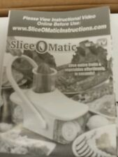 Slice-o-matic Cuts Your Prep Time in Half  Seen on Tv New kitchen home appliance