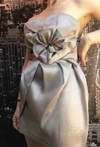 Stunning Willow Cocktail Dress, Silk, Size 6, Strapless