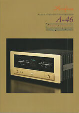 Accuphase a-46 Catalogo Prospetto Catalogue datasheet brochure