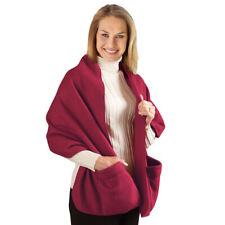 Fleece Wrap Shawl with Pockets