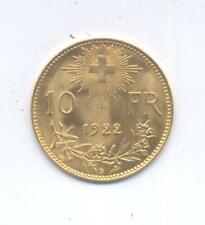 GOLD/ORO - SVIZZERA MARENGO - VRENELI 1922  - OCCASIONE - NON COMUNE