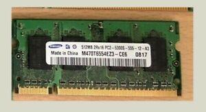 SAMSUNG M470T6554EZ3-CE6 (512MB DDR2 PC2-5300S 667MHz SODIMM 200-pin) DRAM - V.,