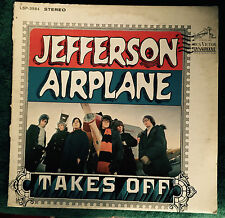"""JEFFERSON AIRPLANE takes off US STERE0  LP LSP-358  RE RCA 12"""" 33 RPM Psych Rock"""