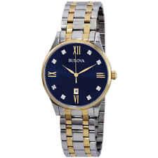 Bulova Diamond Black Dial Men's Watch 98D130
