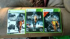 Battlefield Xbox 360 Lot of 3 LE bad company 2 limited edition 3 and regular 3