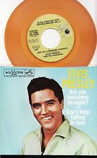 ELVIS PRESLEY - ARE YOU LONESOME TONIGHT 1984 Gold Vinyl Single! MINT!