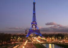 Eiffel Tower Paris Home Decor Canvas Print A4 Size (210 x 297mm)