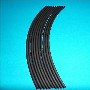 2.4mm diameter Black HEATSHRINK  200mm Pieces (HSV3)