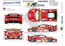 """[FFSMC Productions] Decals 1/24 Ferrari F-430 LMGT2 """"AF Corse"""" (LM 2010)"""