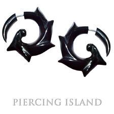Paar ! Ohrringe GESCHRAUBT Spirale Horn Fake Plug Piercing F054