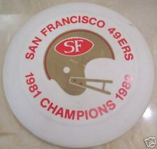 1982 SAN FRANCISCO 49ers 1st SUPER BOWL FRISBEE DISC NFL FOOTBALL