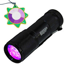 HQRP Professional LED Ultra Violet Black Light Fake Money Detector + UV Meter