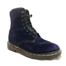Doc Dr Martens 8 Eye Combat Boots Blue Purple Velvet Women's 6