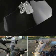 Clip On High Windshield Extension Deflector Universal Fit For Motorcycle Scooter