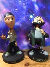 Jay & Silent Bob Mall ratas Raro 2005 Bobble Head aldabas figuras Graphitti