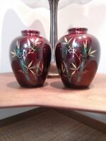 Maruki  Koeyo Set Of 2 Porcelain Vases Hand Made In Japan