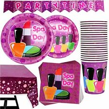 82 Piece Girl Spa Party Supplies Set Including Banner, Plates, Cups, Napkins, 20