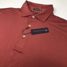 Peter Millar Crown Sport Summer Comfort Men's Medium M CRED Red Golf Polo Shirt