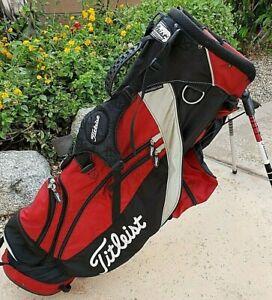 TITLEIST 6 way Stand Golf Bag Red Black Silver 3.14lbs Ultralight with Rain hood