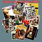 25pcs Classic Movie stickers For Luggage Laptop Art Painting Kill Bill Pulp Fict