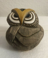 "Artesania Rinconada Angry Old Owl 🦉 3"" Tall 🦉 Made In Uruguay 🦉"