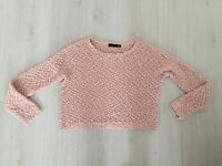 NEW LOOK LOOSE FIT DUSKY PINK (BOBBLE ON LOOSE KNIT) JUMPER SIZE 12.