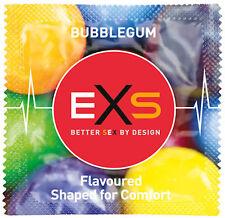 1x EXS Bubblegum Flavour Latex Lubricated Novelty Condom Condoms CE Kitemark