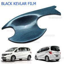 Black Kevlar 4 Door Set Bowl Handle Housing Insert Cover Fit Honda Freed 2010 15