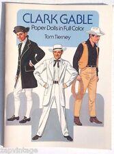 Vtg NEW 1986 Clark Gable Western Spy Paper Doll (Tom Tierney) Book