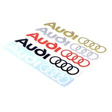Audi Logo Rings Sticker Decal Vinyl 350mm x2 Race Door Window Panel Sticker B