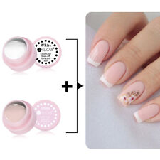 2pcs/set French Manicure Effect Kit Nude White Color Soak Off Gel Polish Lot